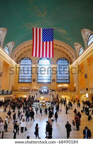 NEW YORK CITY - AUG 8: Grand Central is the second busiest station of the New York City Subway system with 42,002,971 passengers in 2009. August 8, 2010 in Manhattan, New York City. - stock photo