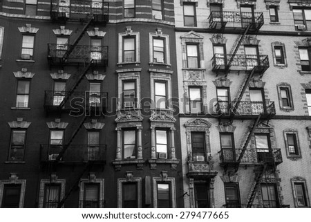 New York City Brownstone building - stock photo