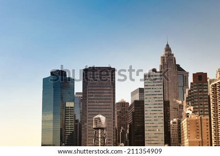 New York City buildings - stock photo