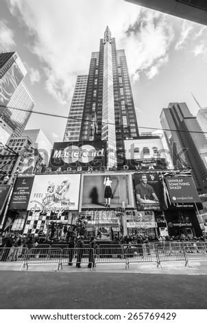 New York City circa dec 2014 -Typical scenario of  Times square building in Manhattan - stock photo