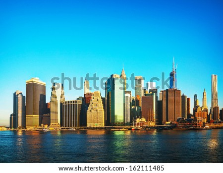 New York City cityscape on a sunny day