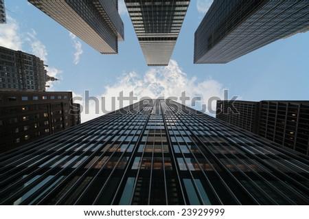 New York city downtown - stock photo