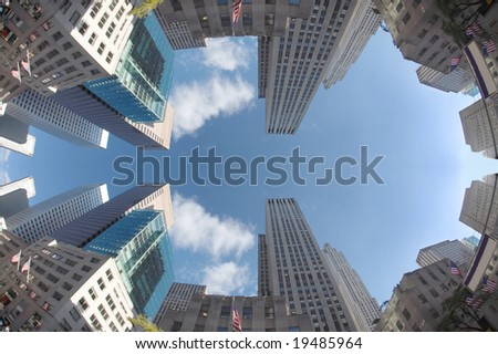 New york city - downtown manhattan. - stock photo