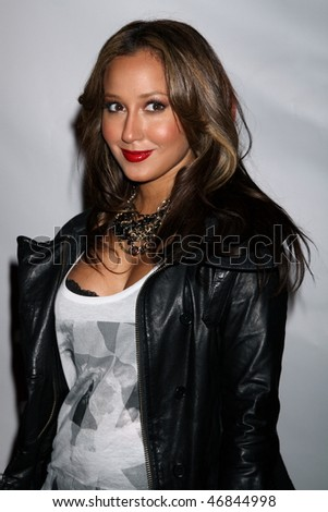 NEW YORK CITY - FEBRUARY 16 : Adrienne Bailon attends Clandestine Industries by Pete Wentz's after party on February 16, 2010 in NYC. - stock photo