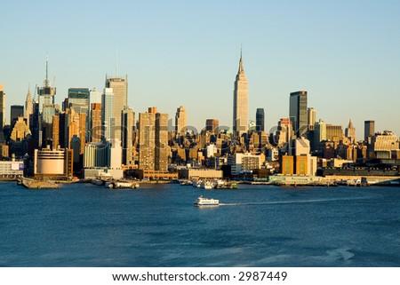 New York City Ferry Boat - stock photo