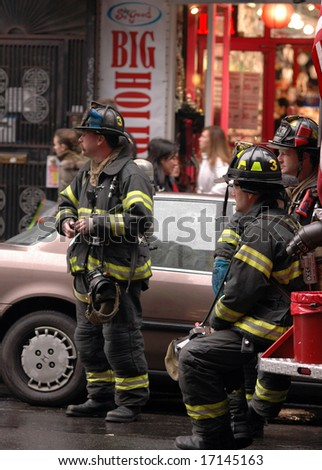 New York City Firefighters - stock photo