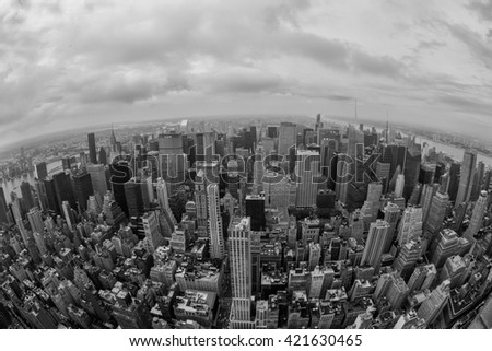 New York city in black and white - stock photo