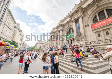 NEW YORK CITY - JULY 17: Metropolitan Museum of Art in New York City on July 17, 2014. The Metropolitan Museum of Art is the largest art museum in the United States. - stock photo