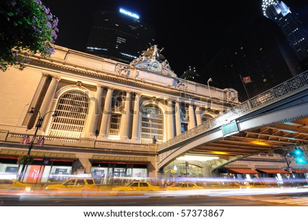 NEW YORK CITY - JULY 18: The historic Grand Central Terminal on 42nd Street July 18, 2010 in New York, New York. - stock photo