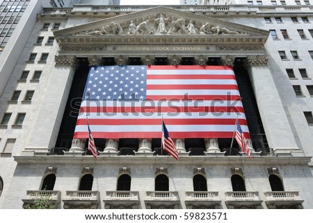 NEW YORK CITY - JUNE 4: The New York Stock Exchange in Lower Manhattan is the world's largest exchange June 4, 2010 in New York, New York.