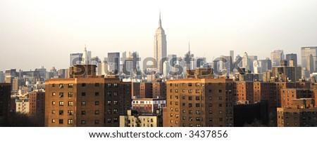 new york city landscape - stock photo