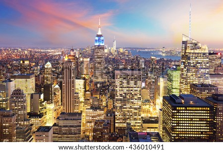 New York City - Manhattan skyline - stock photo