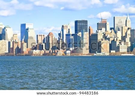 New York City Manhattan Skyline - stock photo