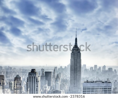 New York city - Manhattan - USA - Empire State building - stock photo