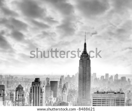 New York city - Manhattan - USA - Empire State building - stock photo