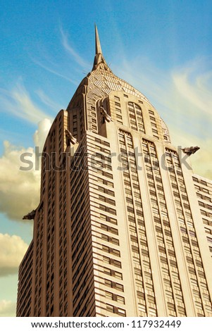 NEW YORK CITY - MAR 6: Chrysler Building is an Art Deco style skyscraper on the east side of Manhattan. It was the world's tallest building for 11 months, March 6th, 2011 in Manhattan, New York City - stock photo