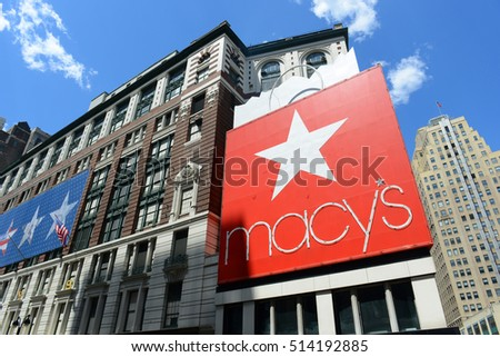 NEW YORK CITY - MAY 25, 2014: Macy's Department Store on 34th street near Herald Square, Manhattan, New York City, USA.