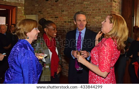 NEW YORK CITY - May 19 2016: Officials of the Brooklyn Kindergarten Society, one of the nation's oldest early education societies, hosted its annual gala in Red Hook. Chirlane McCray with Jim Matison