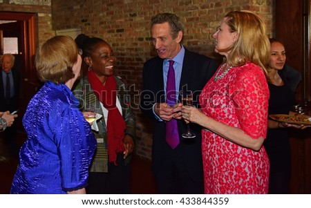 NEW YORK CITY - May 19 2016: Officials of the Brooklyn Kindergarten Society, one of the nation's oldest early education societies, hosted its gala in Red Hook. First lady Chirlane McCray & Jim Matison