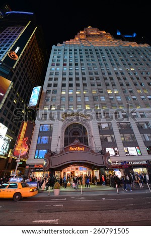 NEW YORK CITY - MAY 6: Paramount Theatre is a famous movie palace located at Broadway in Times Square, Manhattan on May 6th, 2013 in New York City, USA - stock photo