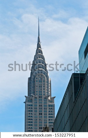 NEW YORK CITY - MAY 7: The Chrysler building was the world's tallest building for 11 months until it was surpassed by the Empire State Building in 1931. Taken on May 7th, 2013 in Manhattan, NYC, USA. - stock photo