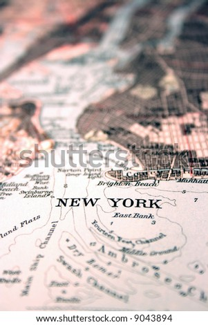 New York City, New York, the way we looked at it in 1949 - stock photo
