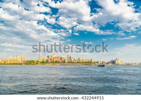NEW YORK CITY, NEW YORK, USA â?? MAY 16, 2013: view from Manhattan - stock photo