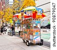 NEW YORK CITY - NOV 13: Midtown, New York state lawmakers are proposing a letter-grading system for street food vendors in New York City, November 13th, 2011 in Manhattan, New York City - stock photo