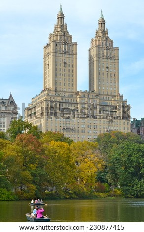 NEW YORK CITY - NOVEMBER 15, 2014: Central Park in the autumn. Manhattan, New York City, USA. - stock photo