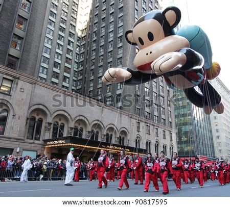 NEW YORK CITY, NY - NOVEMBER 24: Julius balloon floats in the Macy's 85th Annual Thanksgiving Day Parade on November 24, 2011 in New York City, New York. - stock photo