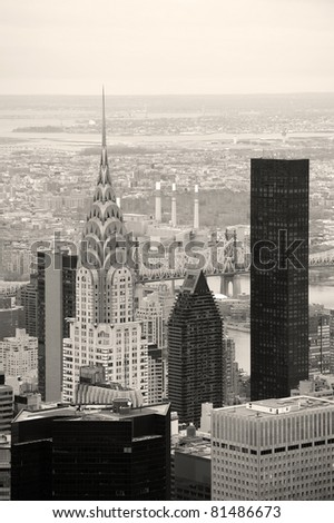 NEW YORK CITY, NY, USA - MAR 30: Chrysler Building on March 30, 2011 in Manhattan, New York City. Chrysler Building was designed by architect William Van Alena as Art Deco architecture. - stock photo