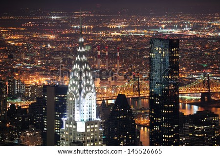 NEW YORK CITY, NY, USA - MAR 30: The Chrysler Building was designed by architect William Van Alena as Art Deco architecture and the famous landmark. March 30 in Manhattan, New York City. - stock photo