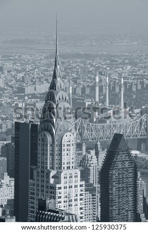 NEW YORK CITY, NY, USA - NOV 7: Chrysler Building in midtown Manhattan on November 7, 2011, New York City. Chrysler Building was designed by architect William Van Alena as Art Deco architecture in US. - stock photo