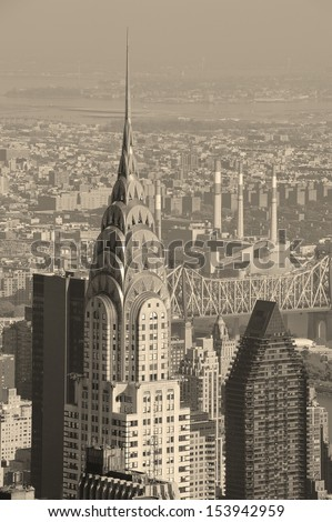 NEW YORK CITY, NY, USA - NOV 7: Chrysler Building in midtown Manhattan on November 7, 2011, New York City. Chrysler Building was designed by architect William Van Alena as Art Deco architecture in US - stock photo