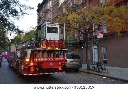 NEW YORK CITY - October 21, 2015: Buildings in Lower Manhattan, NYC, USA. - stock photo