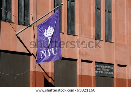 NEW YORK CITY - OCTOBER 13: The Hall of Physics at New York University, the largest private institution in the United States October 13, 2010 in New York, New York. - stock photo