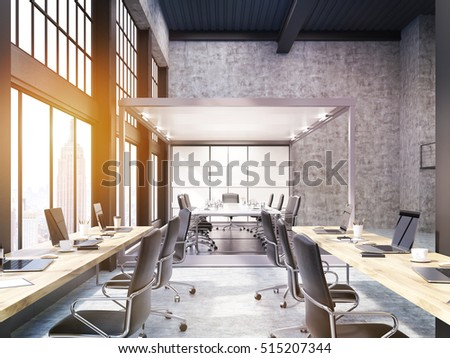 new york city open office with meeting room glass walls concept of the boss design concepts59 office