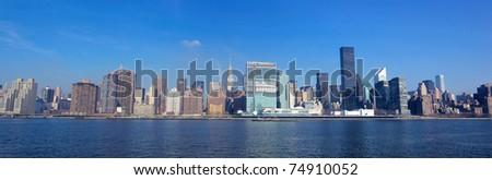 New York City panorama with Manhattan skyline - stock photo