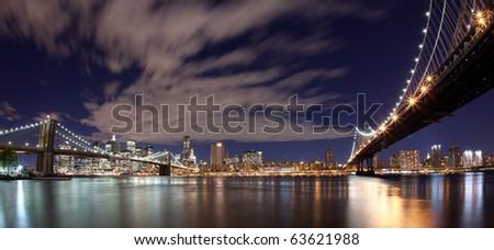 New York City panoramic - stock photo