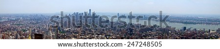 New York City - panoramic skyline of Manhattan - stock photo