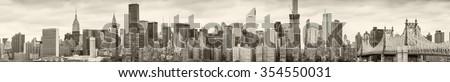 New York City. Panoramic view of Midtown skyline. - stock photo