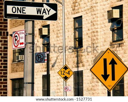 New York City Road Signs - stock photo