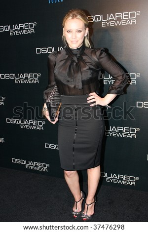 NEW YORK CITY - SEPTEMBER 16: Actress & Musician Hillary Duff arriving at the DSquared2 after-party held on September 16, 2009 in NYC. - stock photo