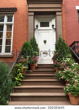 New York City - September 23, 2015: New York City street view, USA  - stock photo