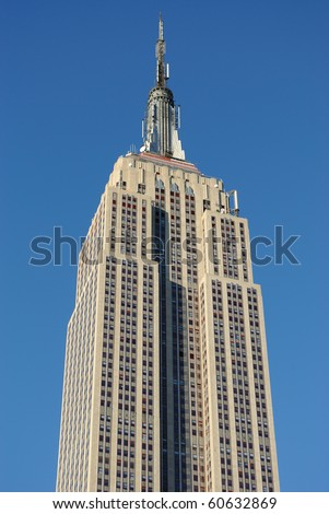 NEW YORK CITY - SEPTEMBER 5: The Empire state Building, which may be dwarfed by a proposed new skyscraper two blocks away September 5, 2010 in New York, New York. - stock photo