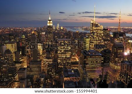 New York City skyline, Manhattan, New York - stock photo