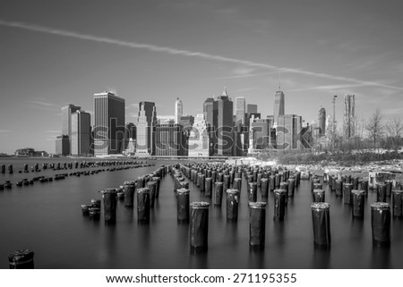 New York City Skyline, Manhattan view  - stock photo