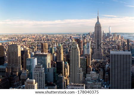 New York City Skyline - NYC - NY - USA - stock photo