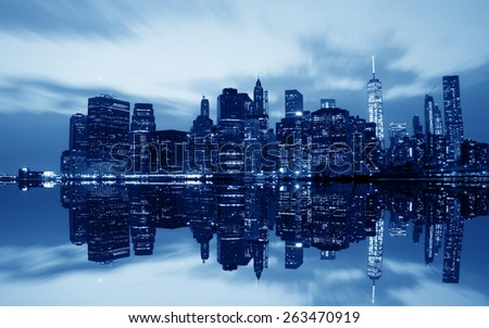 New York City Skyline Reflection