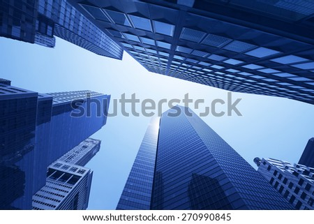New York City skyscraper - stock photo